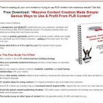 Free Training:  Genius Ways to Use and Profit from PLR Content!