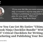 Wish you had Checklists to Help you Write/Publish/Market your Kindle Book?