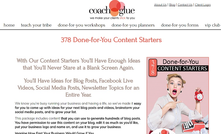 378 Done For You Content Starters