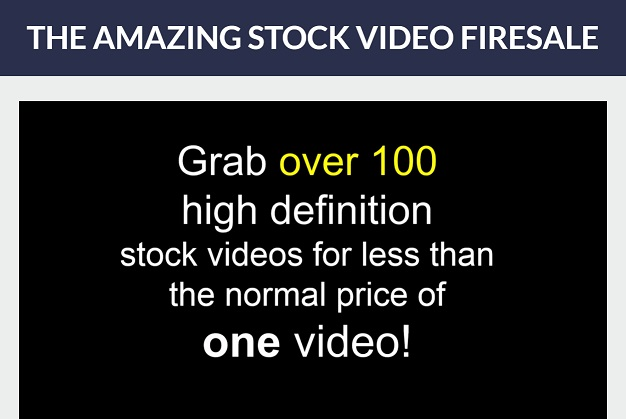 Amazing Stock Video Firesale
